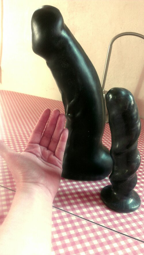 Extreme black dong toy dildo